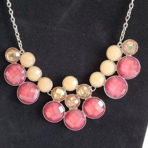 Pink & Cream Statement Necklace